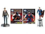 DC Chess Figurine Collection #32 The Question White Pawn & Bonus #33 Superman White King Eaglemoss